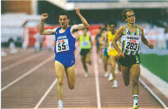 Campeonato de España Absoluto de Atletismo de 1991, disputado en el Estadio de Montjuïc (Barcelona) sobre pavimento Sportflex de Mondo. Foto: RFEA.