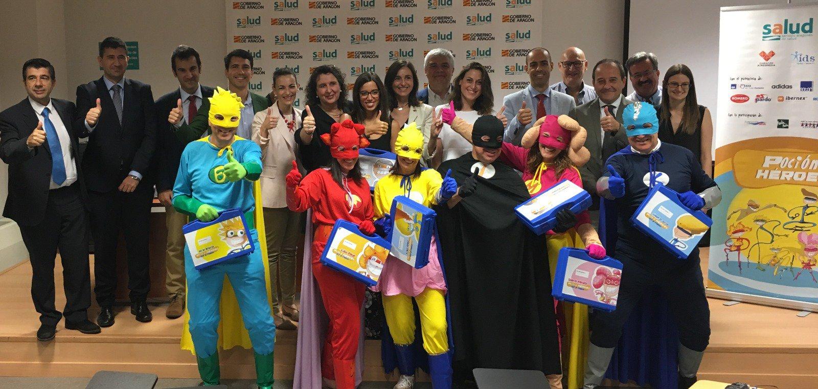 """Presentación de programa """"Poción de Héroes"""" en el Hospital Infantil de Zaragoza. Foto: Gobierno de Aragón"""