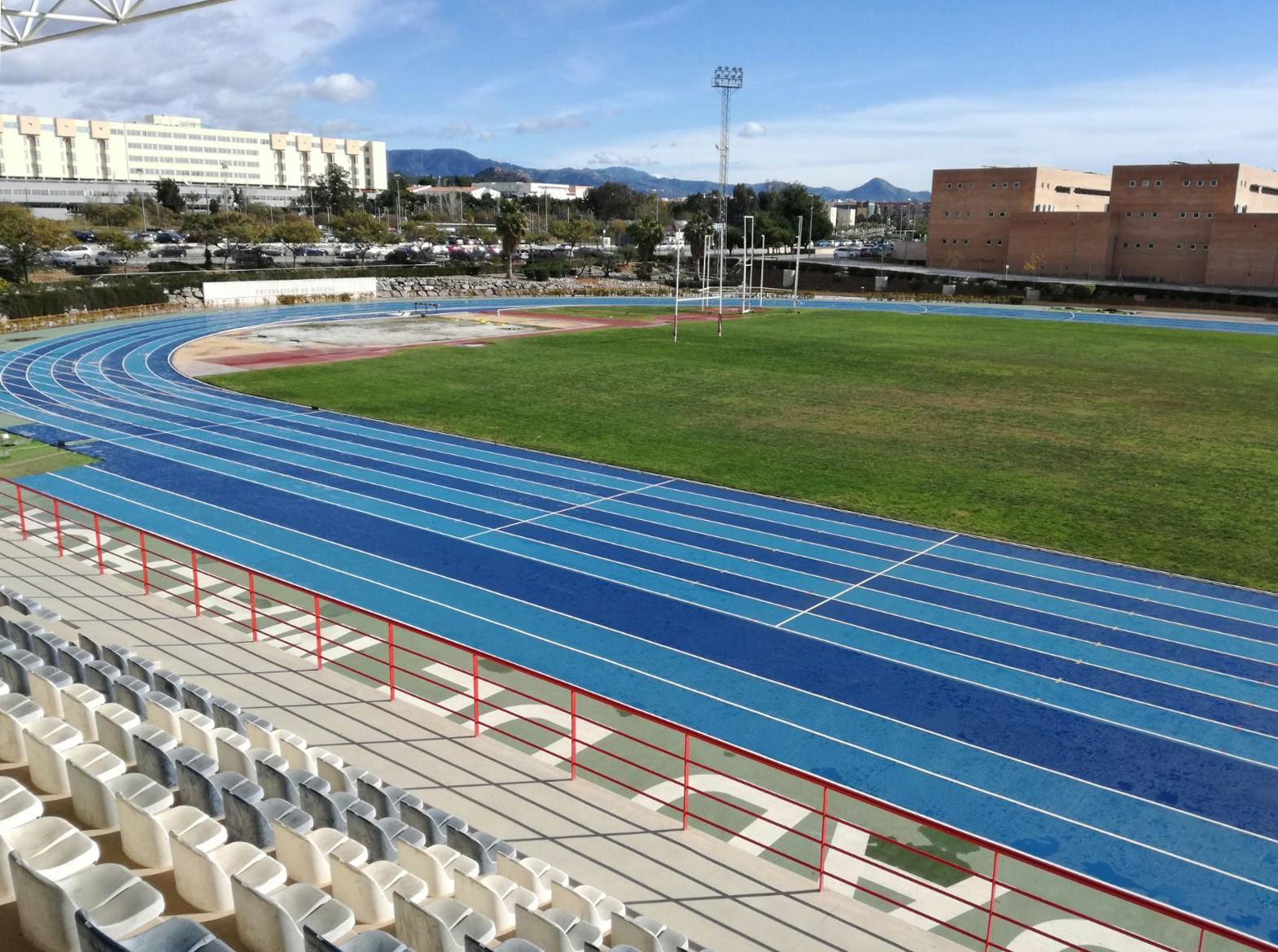 Pista del Campus de Teatinos de la Universidad de Málaga, equipada con Sportflex Super X.