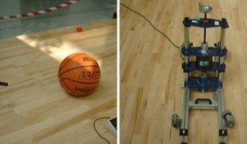 Diferentes pruebas del estado de un pavimento realizadas por un laboratorio.