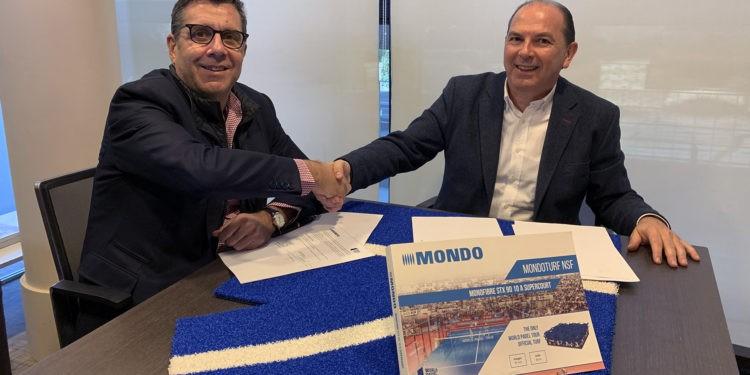 José Luis Serrano, consejero delegado de World Padel Tour, y Santiago Palomera, director general de Mondo Ibérica.