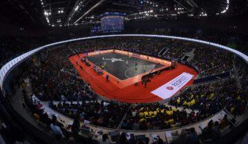 El Almaty Arena de Kazajistán acogió la Final Four de 2019, también con equipamiento y porterías de Mondo
