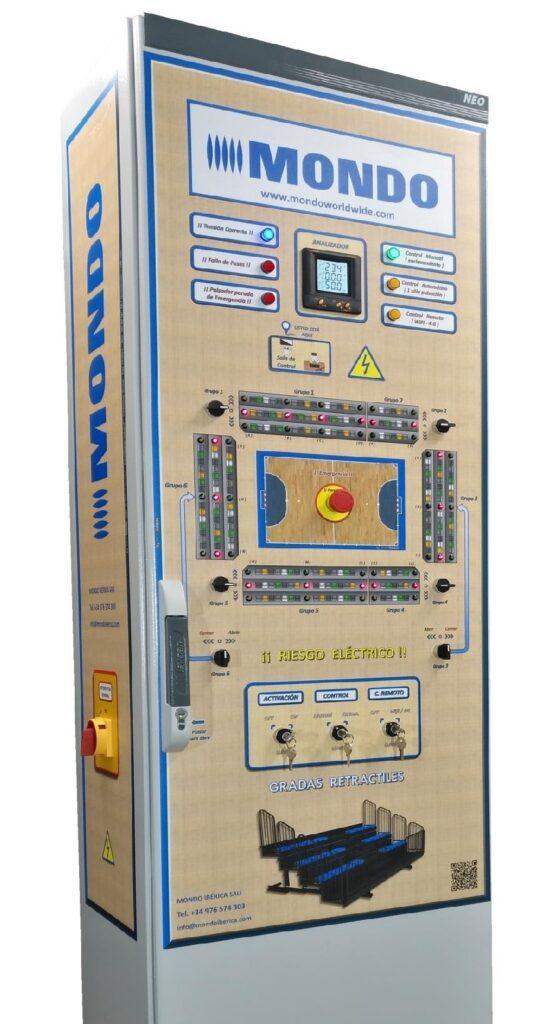 Consola de control de graderíos telescópicos