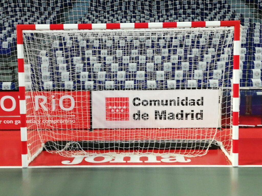 Porterías utilizadas en la fase final de la Copa de España de fútbol sala, disputada en el WiZink Center de Madrid