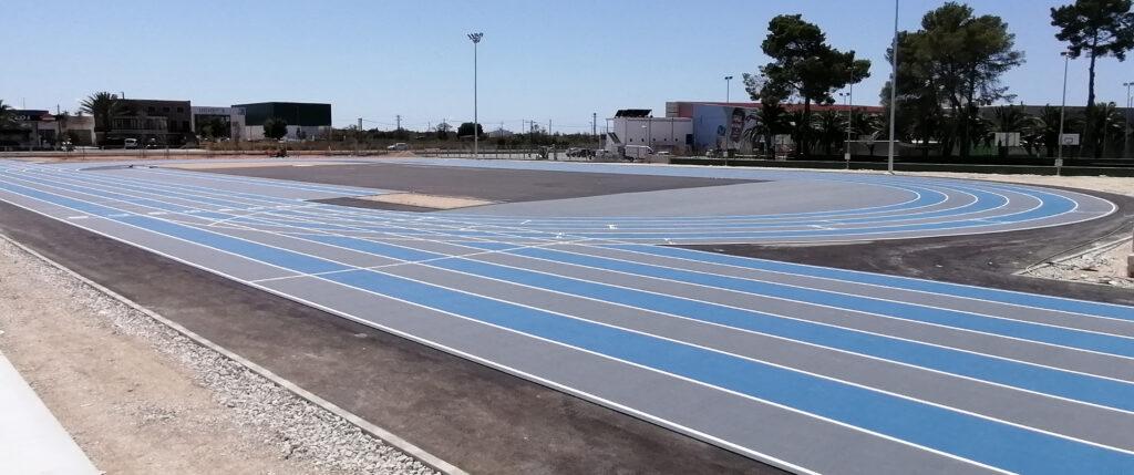 Módulo de atletismo de Felanitx equipado con pavimento Mondo