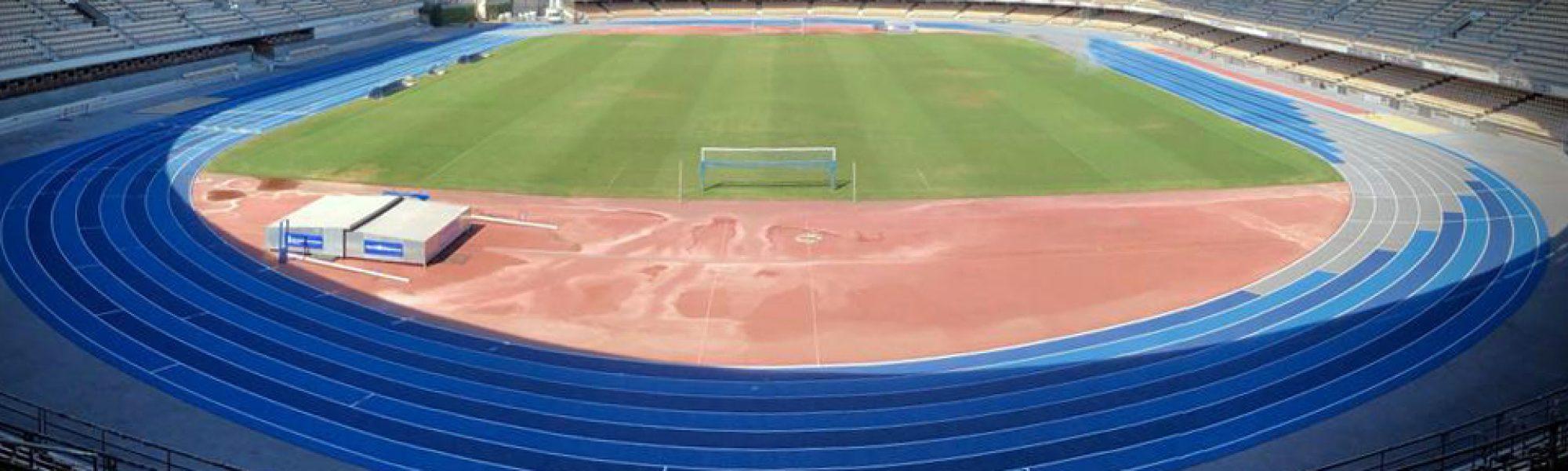 Pista de atletismo de Chapín, en Jerez de la Frontera, equipada con pavimento Sportflex Super X 720