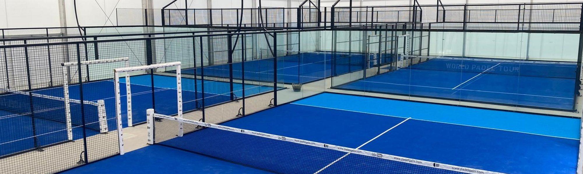 Club Vimpadel, equipado con siete pistas con césped Supercourt XN de Mondo, dos de ellas con césped bitono