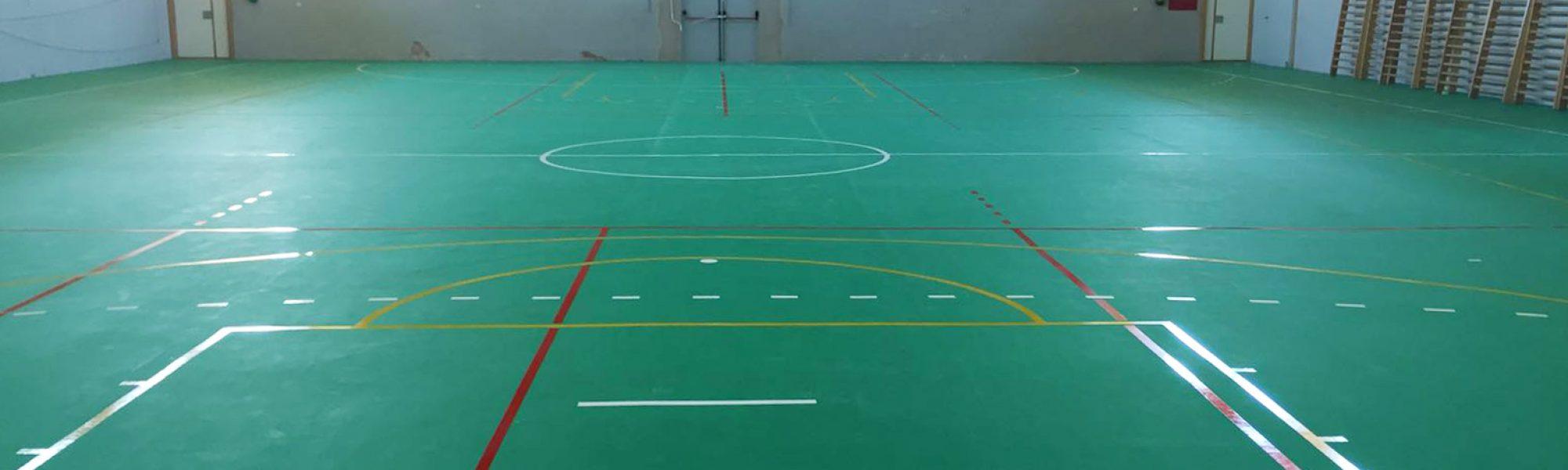Pabellón del Colegio Kolbe equipado con Mondoflex y Everlay