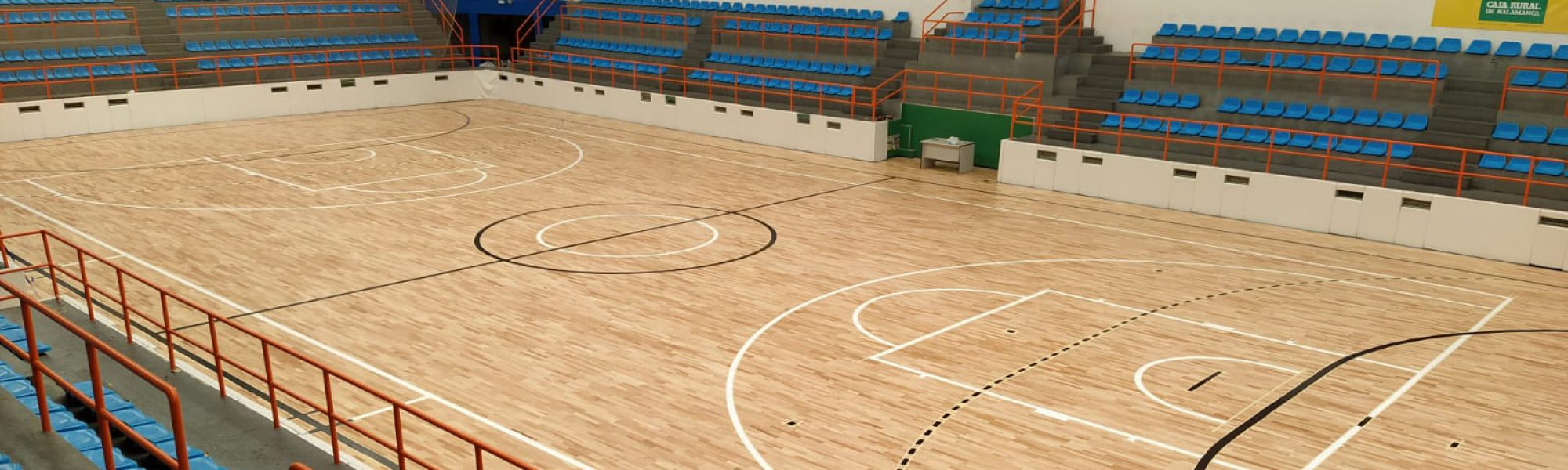 El pabellón salmantino de La Alamedilla estrena pavimento de madera Zeta System FTS de Mondo