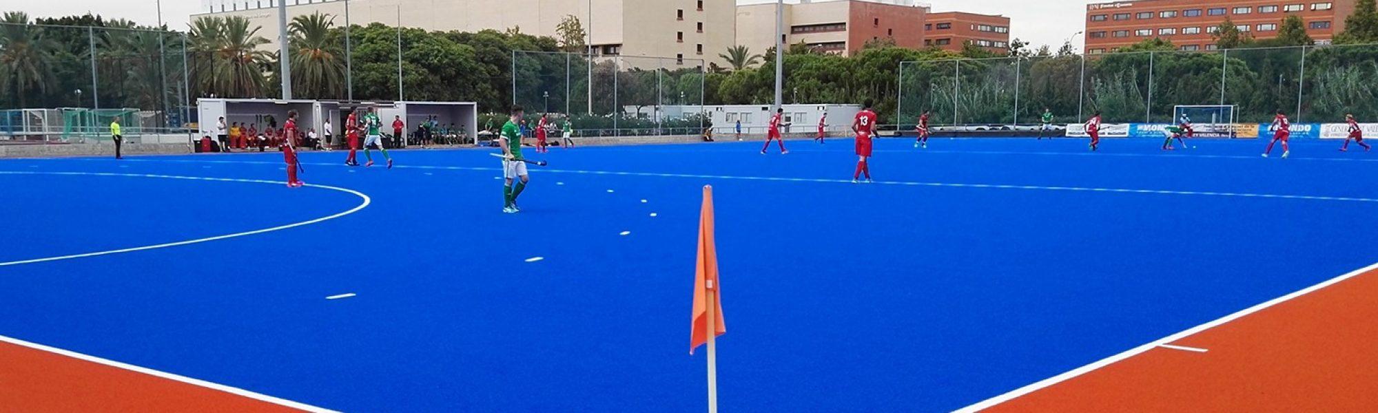 Partido del Eurohockey Junior Championship disputado en el campo de Tarongers (Valencia).
